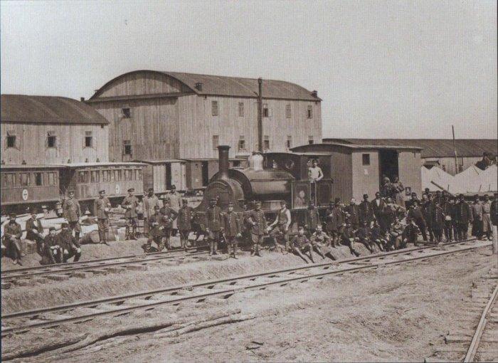 Одним из нововведений войны стало использование железной дороги./Фото: img-fotki.yandex.ru